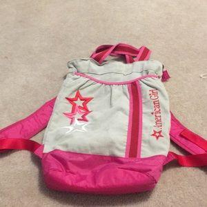 American girl backpack/ bag